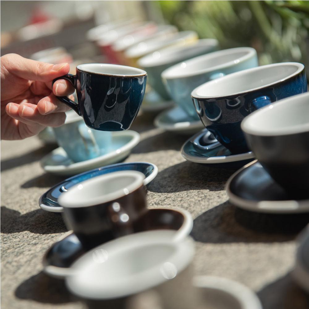 LOVERAMICS 愛陶樂 | 蛋形系列 250ml 卡布奇諾杯盤組 (職人色系) EggCappuccino Cup & Saucer(九色)