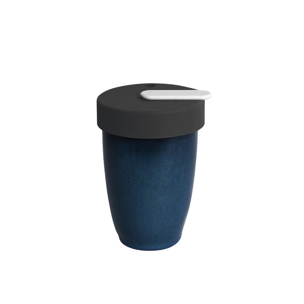 LOVERAMICS 愛陶樂 | Nomad 遊牧雙層陶瓷隨行杯 250ml 職人色系 (夜空色)