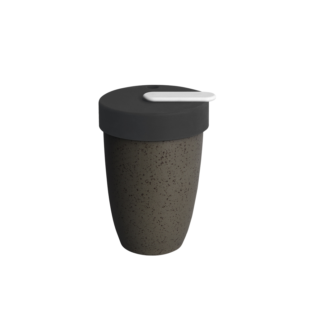 LOVERAMICS 愛陶樂 | Nomad 遊牧雙層陶瓷隨行杯 250ml 職人色系 (花崗岩色)
