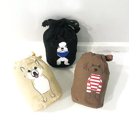ROOTOTE|小狗綿質背心購物袋 (法國鬥牛犬)