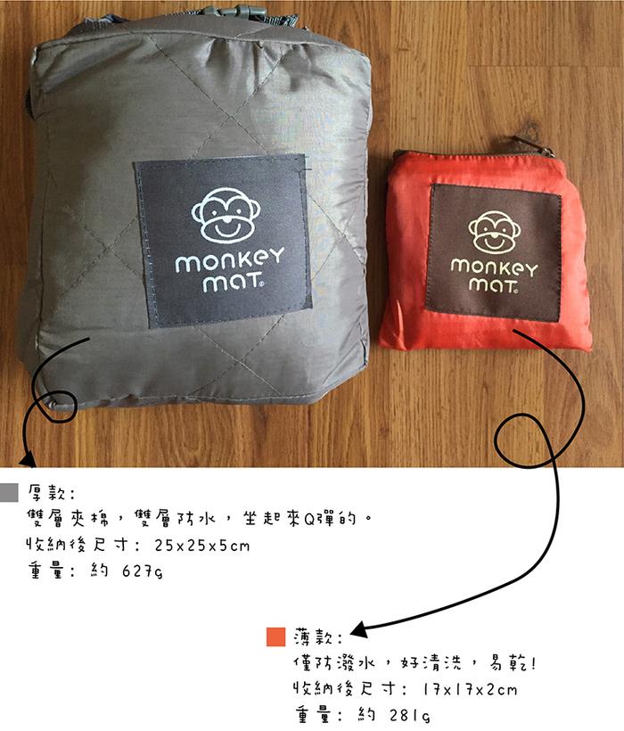 Monkey Mat|手掌大隨身攜帶野餐墊 - 活力橘