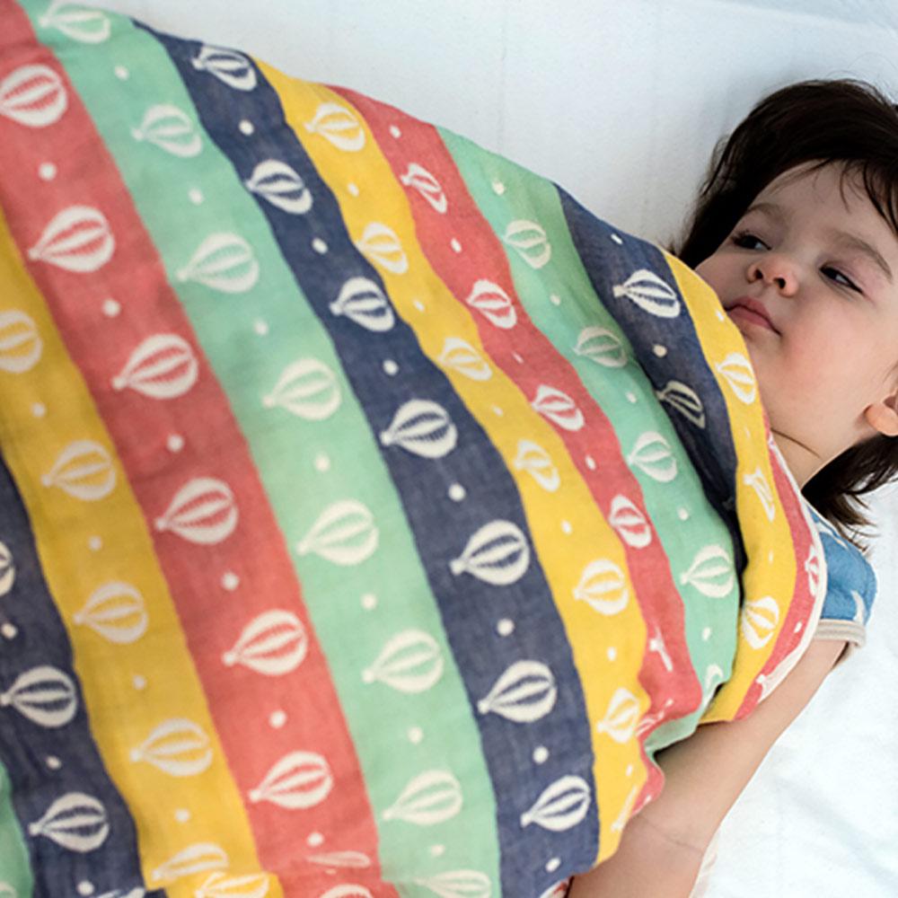 Yimono|六層紗呼吸被 - 彩色氣球 (薄款/ L)