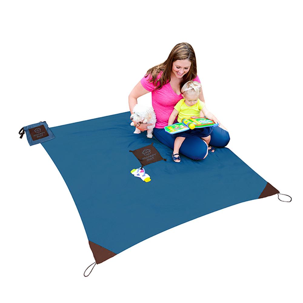 Monkey Mat|手掌大隨身攜帶野餐墊 - 清涼藍