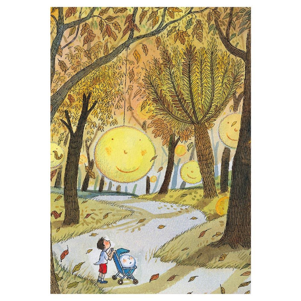 幾米|方格筆記本-蕭瑟的秋月