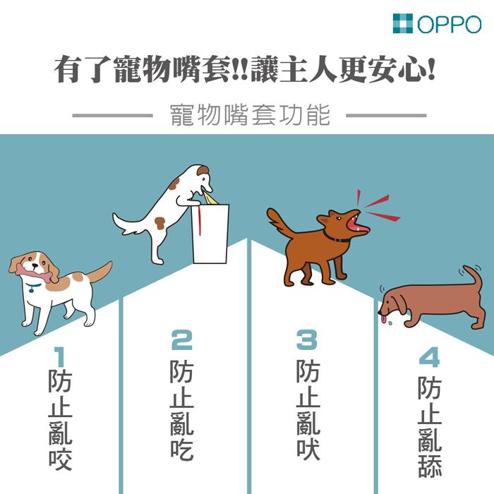 (複製)日本OPPO│呱呱寵物嘴套- 哈囉你好款 quack (M)