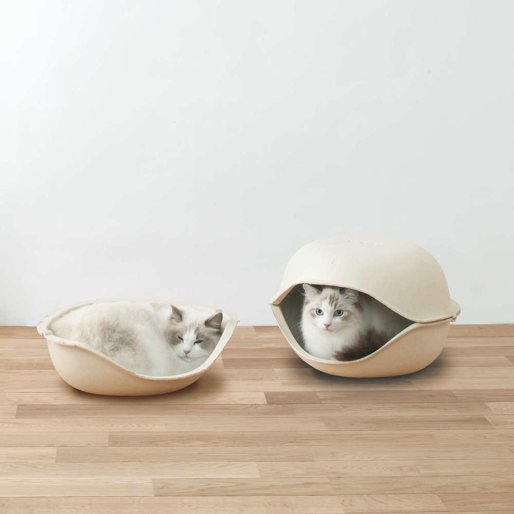 日本OPPO|貓咪創意貝殼窩2入 CatSell (精緻套房)