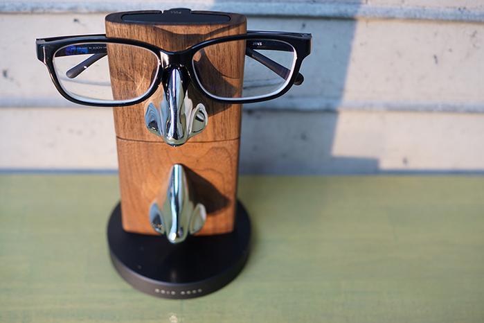 GOLD WOOD|胡桃木眼鏡架配件 Glasses Stand Accessories (銀)