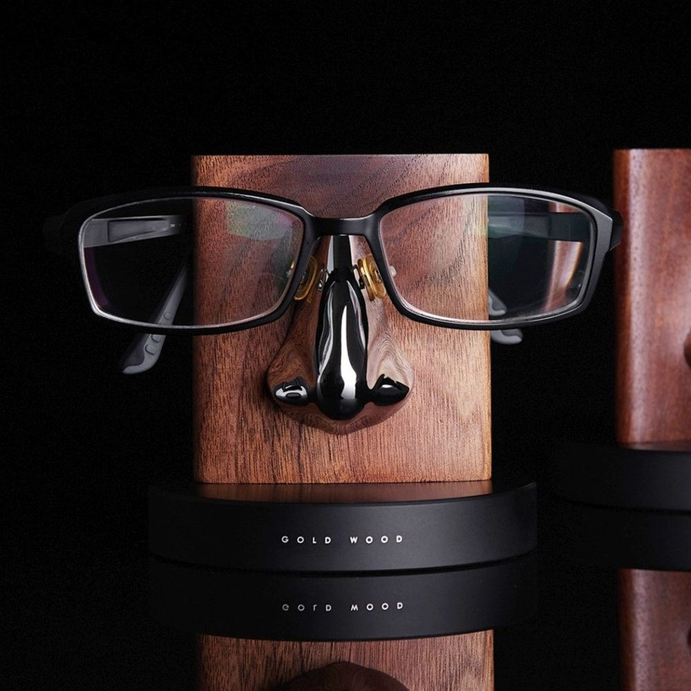 GOLD WOOD 格物 胡桃木眼鏡架 Glasses Stand (銀)