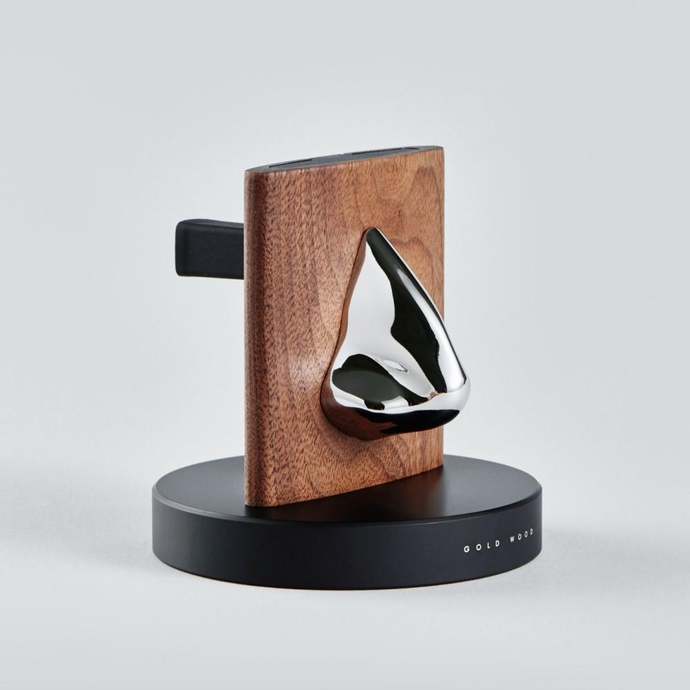 GOLD WOOD 格物|胡桃木眼鏡架 Glasses Stand (銀)