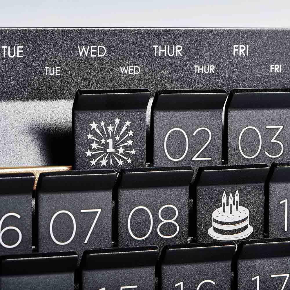 GOLD WOOD 格物|胡桃木萬年曆 DIY Desktop Calendar (時尚金/個性灰)