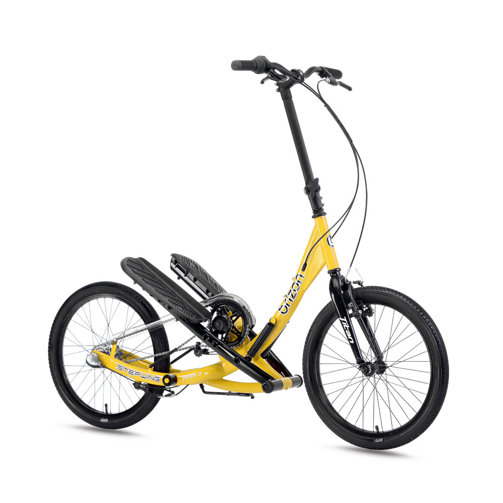 brizon|Stepwing 彈力踩踏車 T3 變速旗艦折疊款(黃色/黑色)