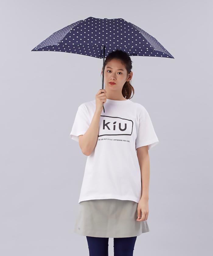 (複製)KiU|空氣感90g摺疊抗UV晴雨傘  藍底白點