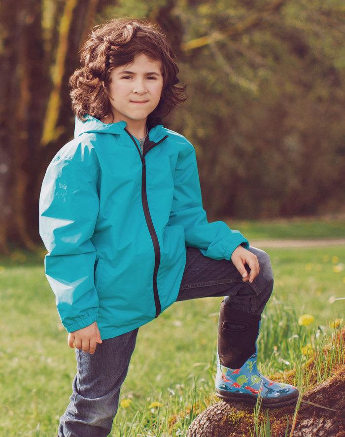 (複製)OAKI|兒童防水外套  火山橘