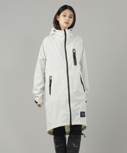 KiU 白色 空氣感雨衣- 附收納袋(男女適用)