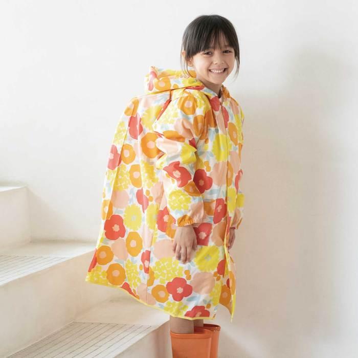 WPC|空氣感兒童雨衣 克拉拉花朵(95-120cm)