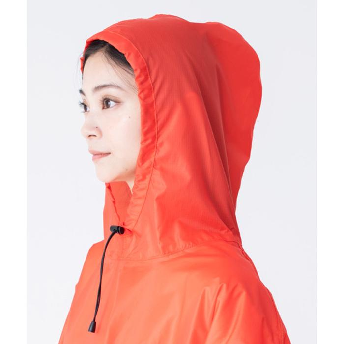 KiU|白色 超輕量成人斗篷雨衣(男女適用)