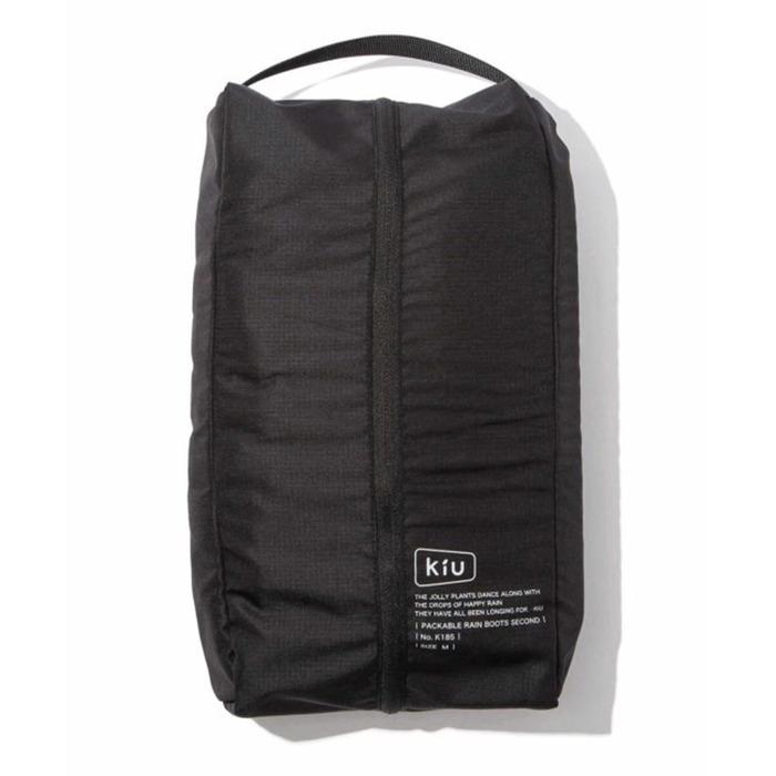 KiU|二代可折疊百搭雨鞋- 附收納袋(男女適用)  黑色