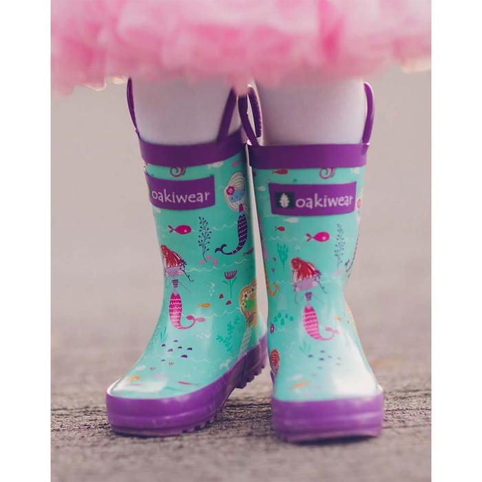 OAKI |兒童提把雨鞋 小美人魚
