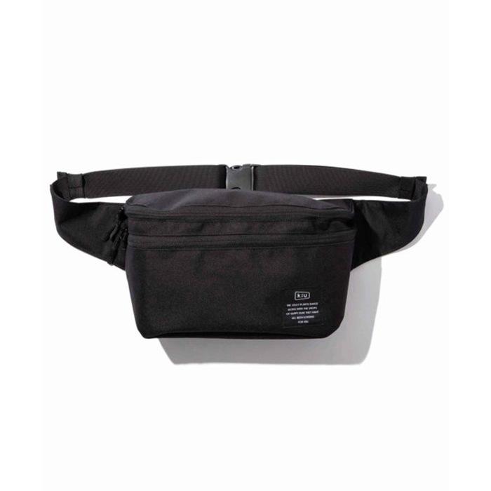KiU|黑色 2用隨身包單肩包 游泳袋