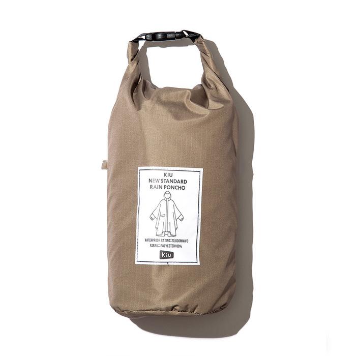 KiU|墨跡 標準成人空氣感有袖斗篷雨衣(男女適用)