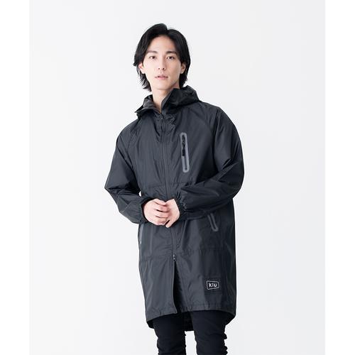 KiU 黑色 空氣感雨衣- 附收納袋(男女適用)