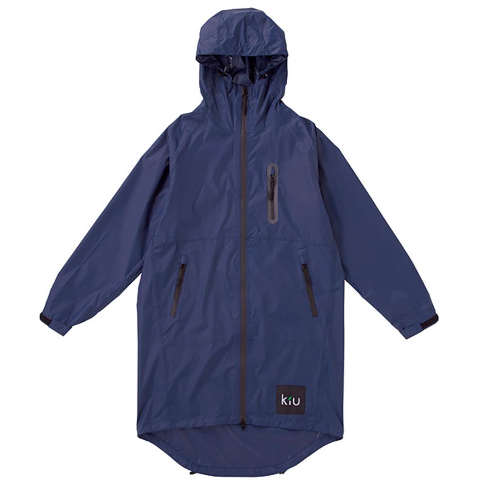 KiU|海軍藍 空氣感雨衣- 附收納袋(男女適用)