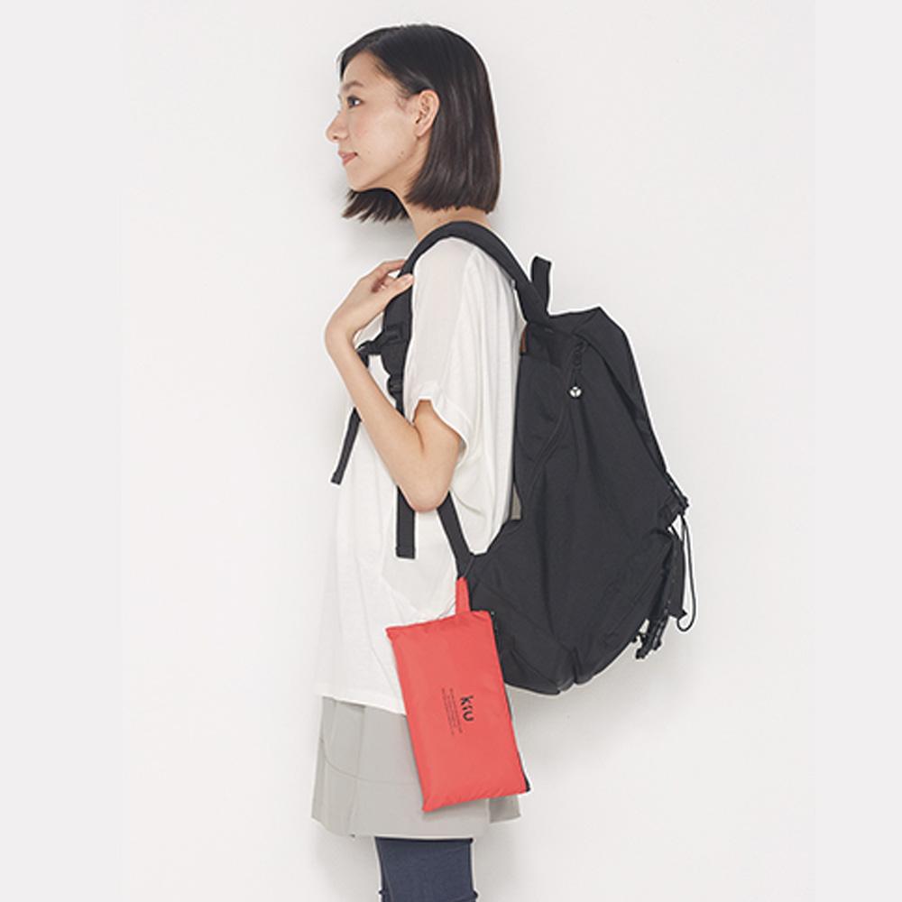 KiU|粉紅色  空氣感雨衣- 附收納袋(男女適用)