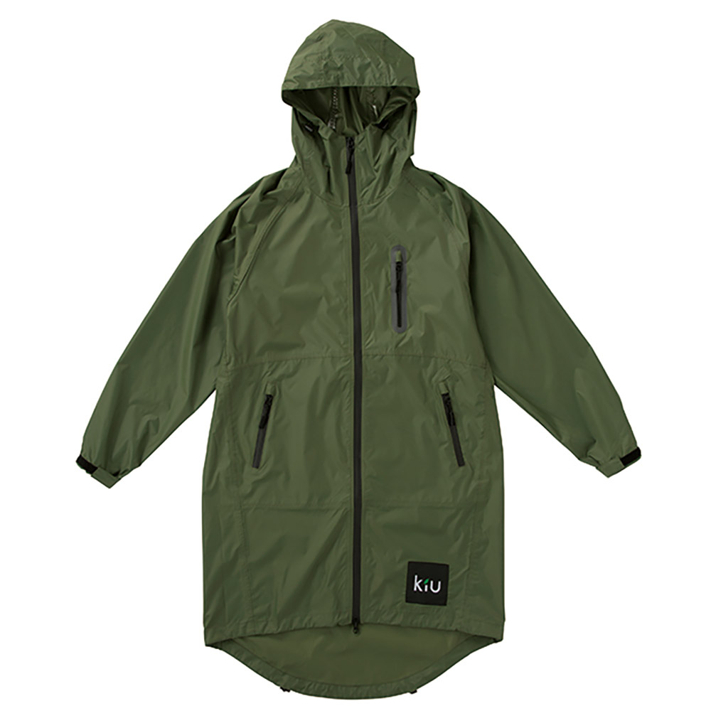 KiU 軍綠色  空氣感雨衣- 附收納袋(男女適用)