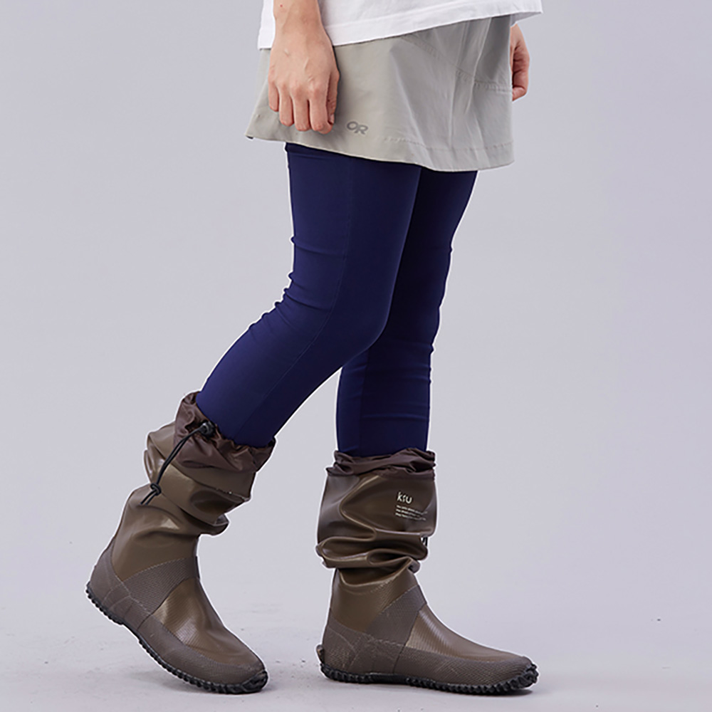 KiU|可折疊百搭雨鞋- 附收納袋(男女適用)  咖啡色