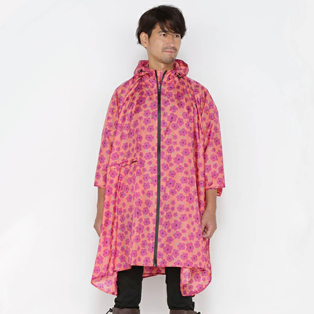 KiU| 空氣感雨衣- 附收納袋  粉紅哈娜