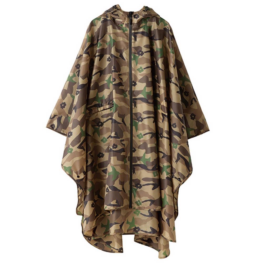 KiU| 空氣感雨衣- 附收納袋 棕迷彩