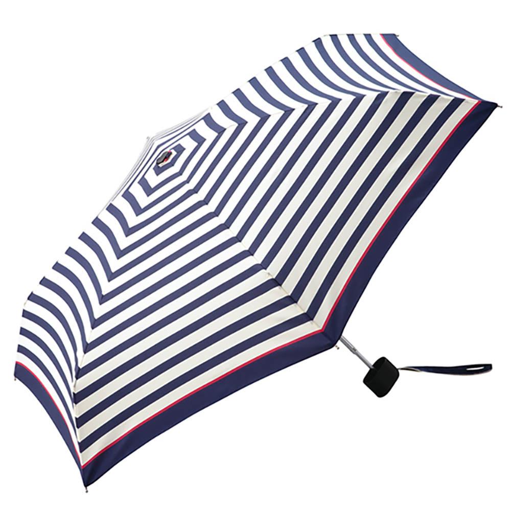 KiU|輕巧摺疊抗UV晴雨傘  海軍藍紋