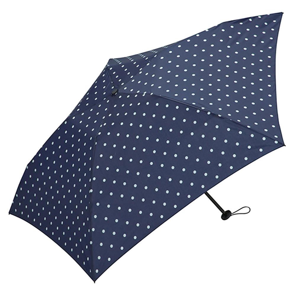 KiU|空氣感90g摺疊抗UV晴雨傘  藍底白點