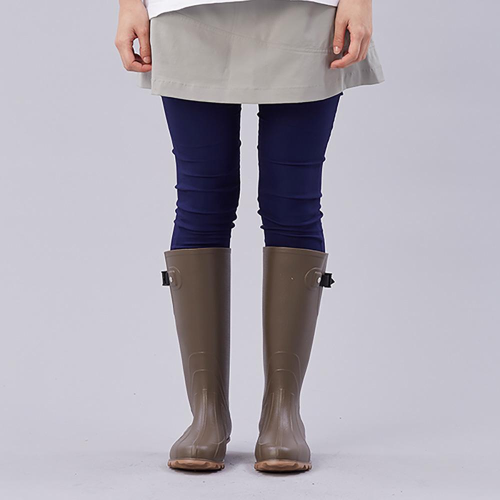KiU| 修飾腿型雨鞋- 男女適用 咖啡色