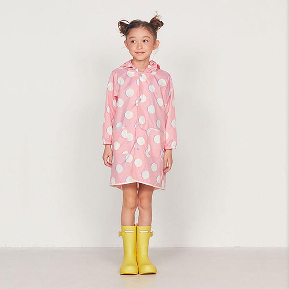 WPC 空氣感兒童雨衣 粉紅月(120-140cm)