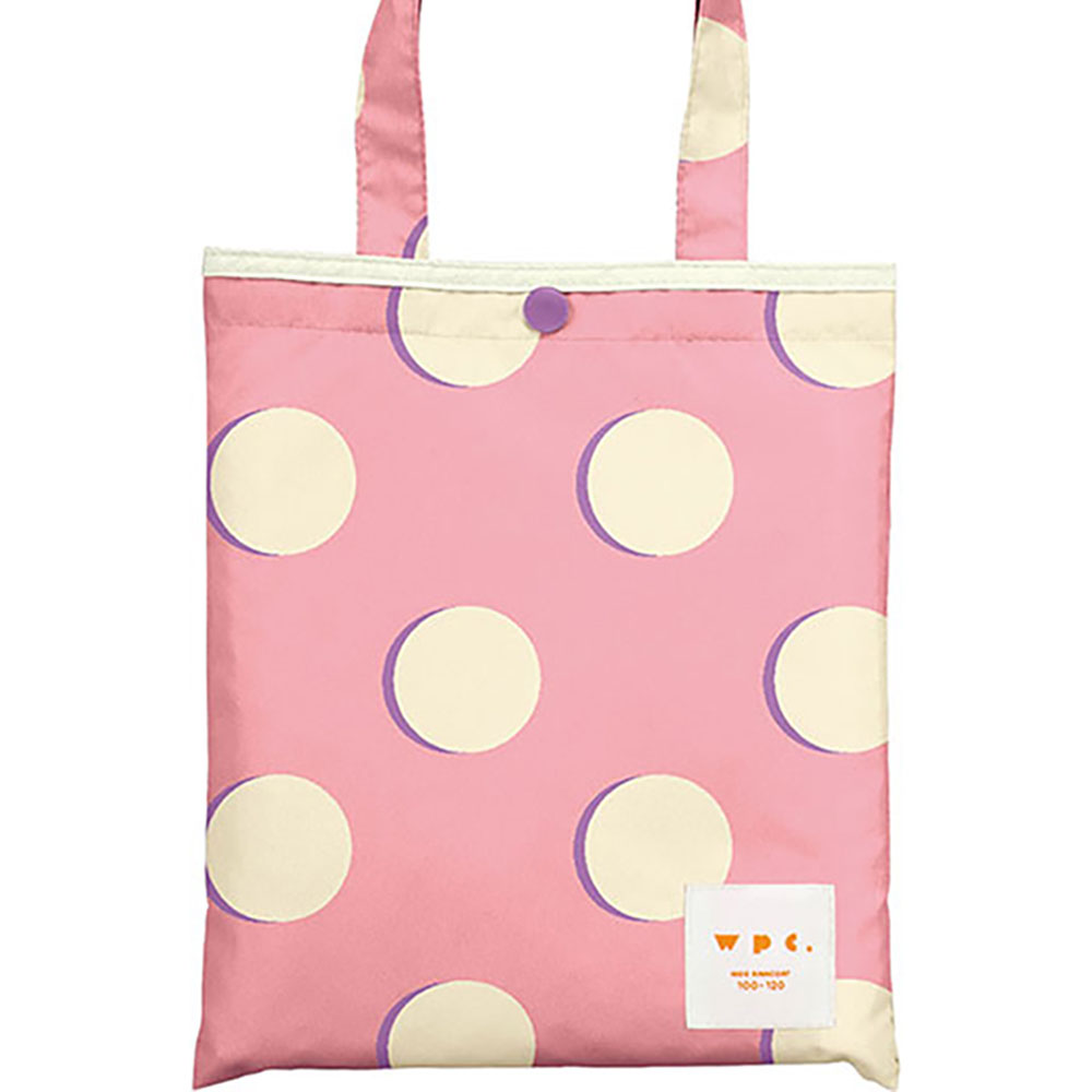 WPC|空氣感兒童雨衣 粉紅月(120-140cm)