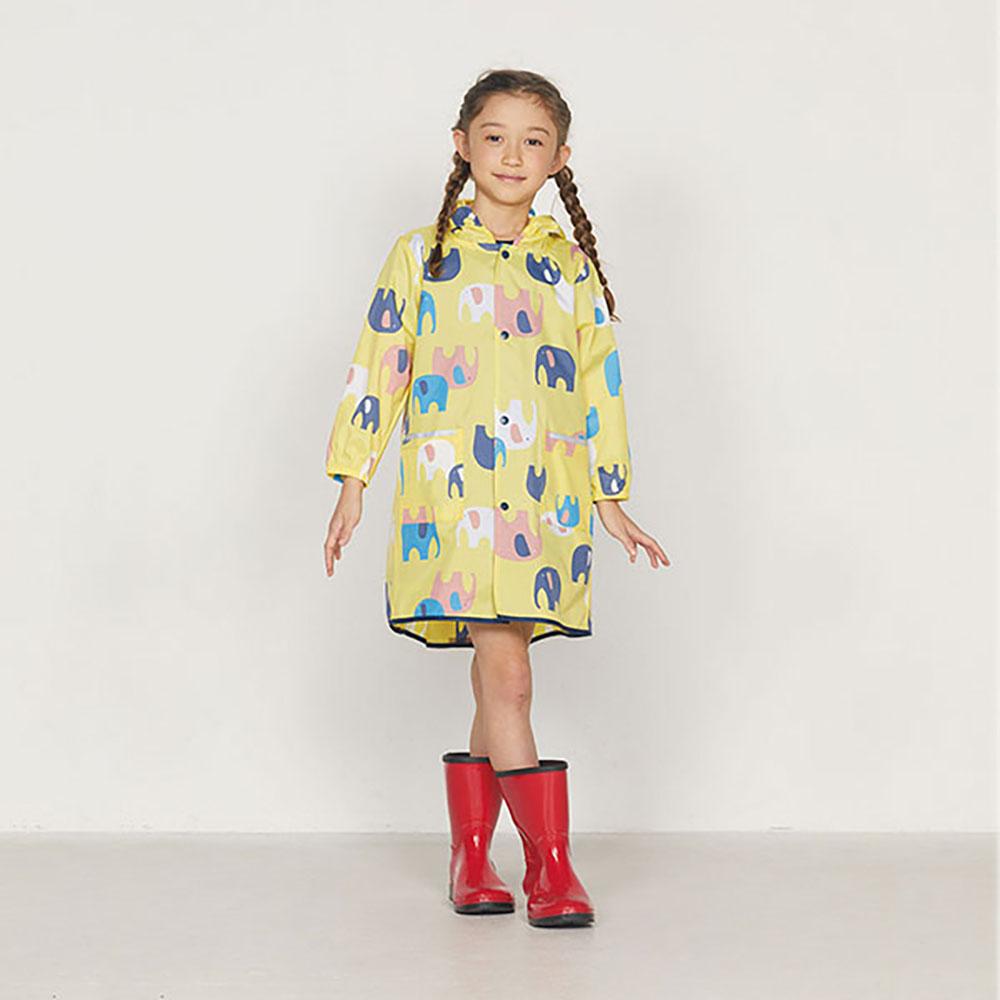 WPC|空氣感兒童雨衣 頑皮象(95-120cm)