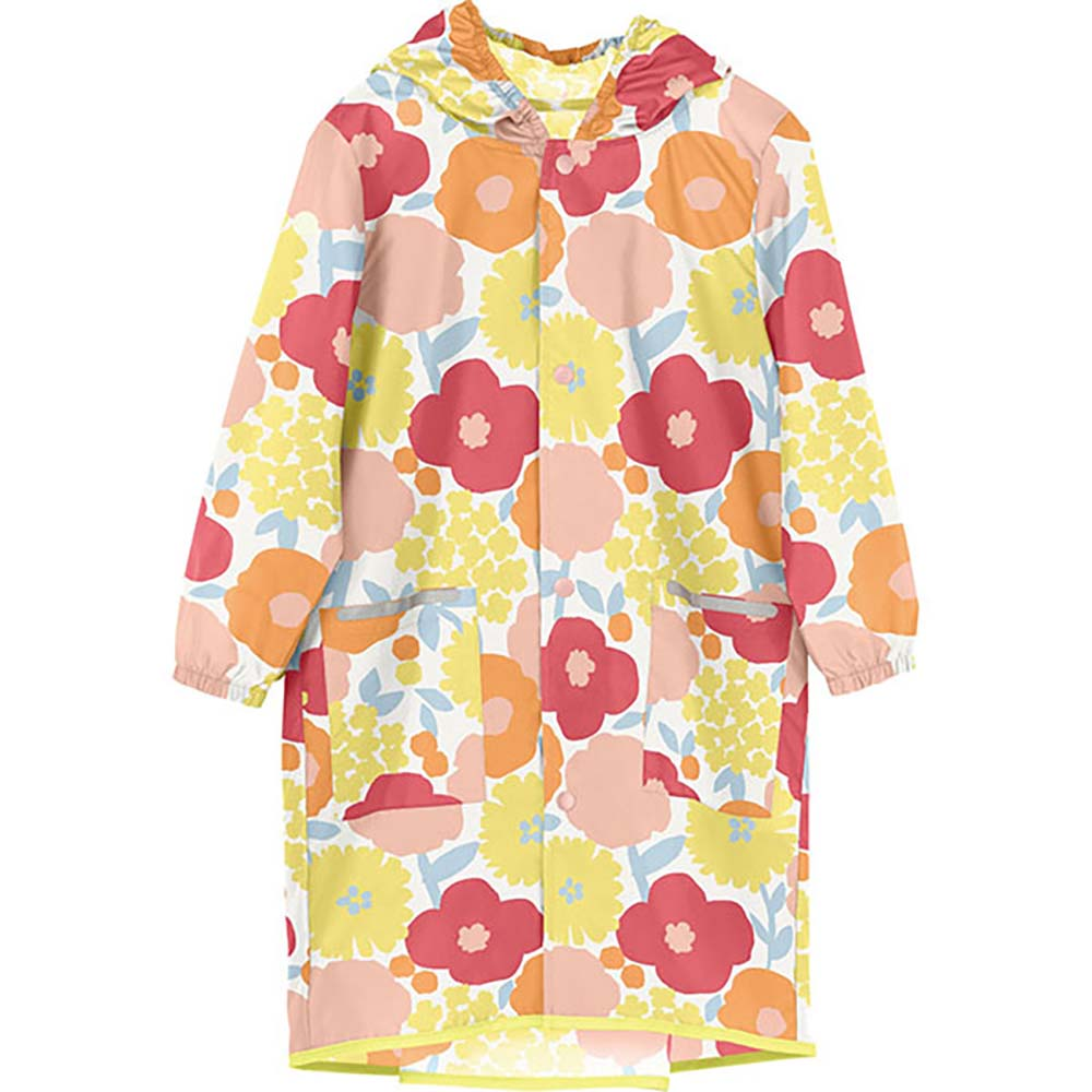 WPC|空氣感兒童雨衣 克拉拉花朵(120-140cm)