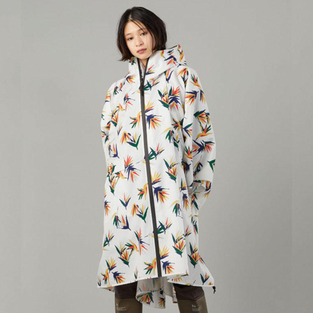KiU|南國花鳥 空氣感雨衣- 附收納袋(男女適用)