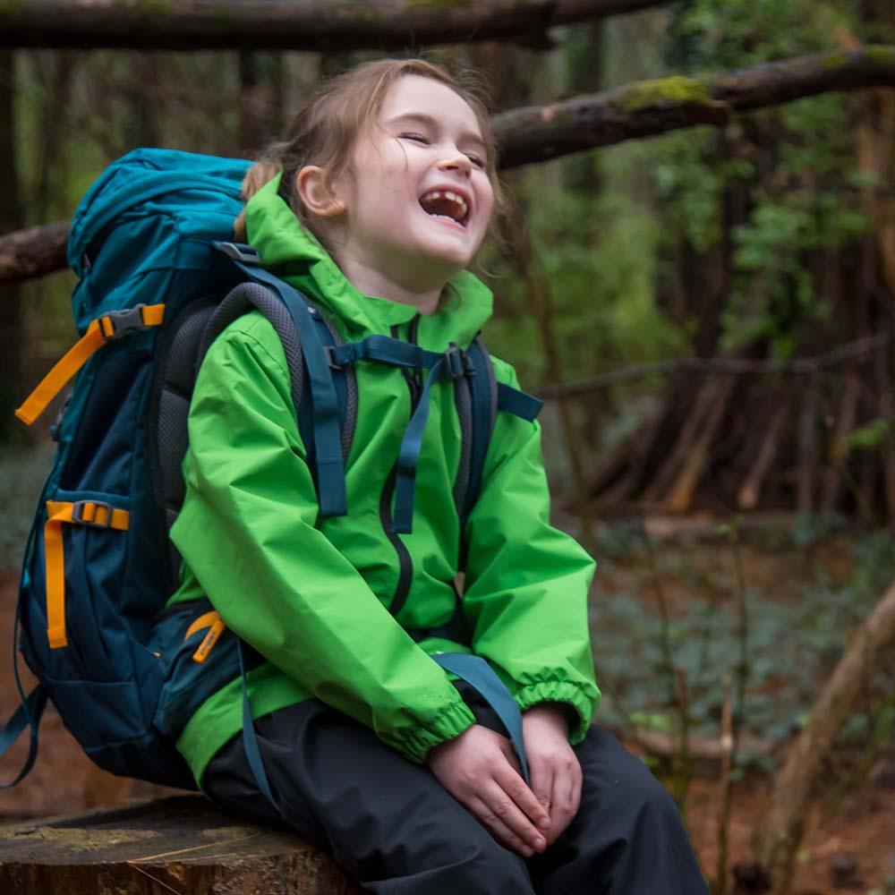 OAKI|兒童防水外套  山谷綠