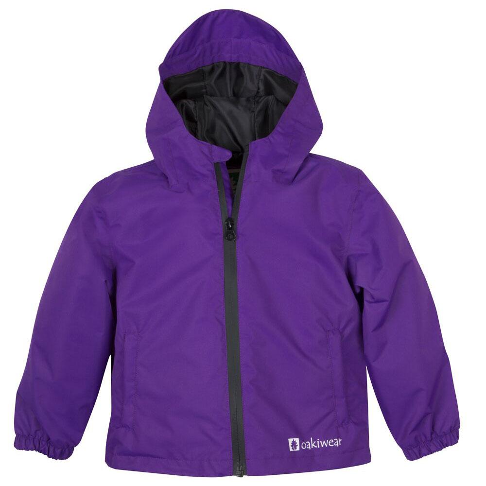 OAKI|兒童輕量防水外套  銀河紫
