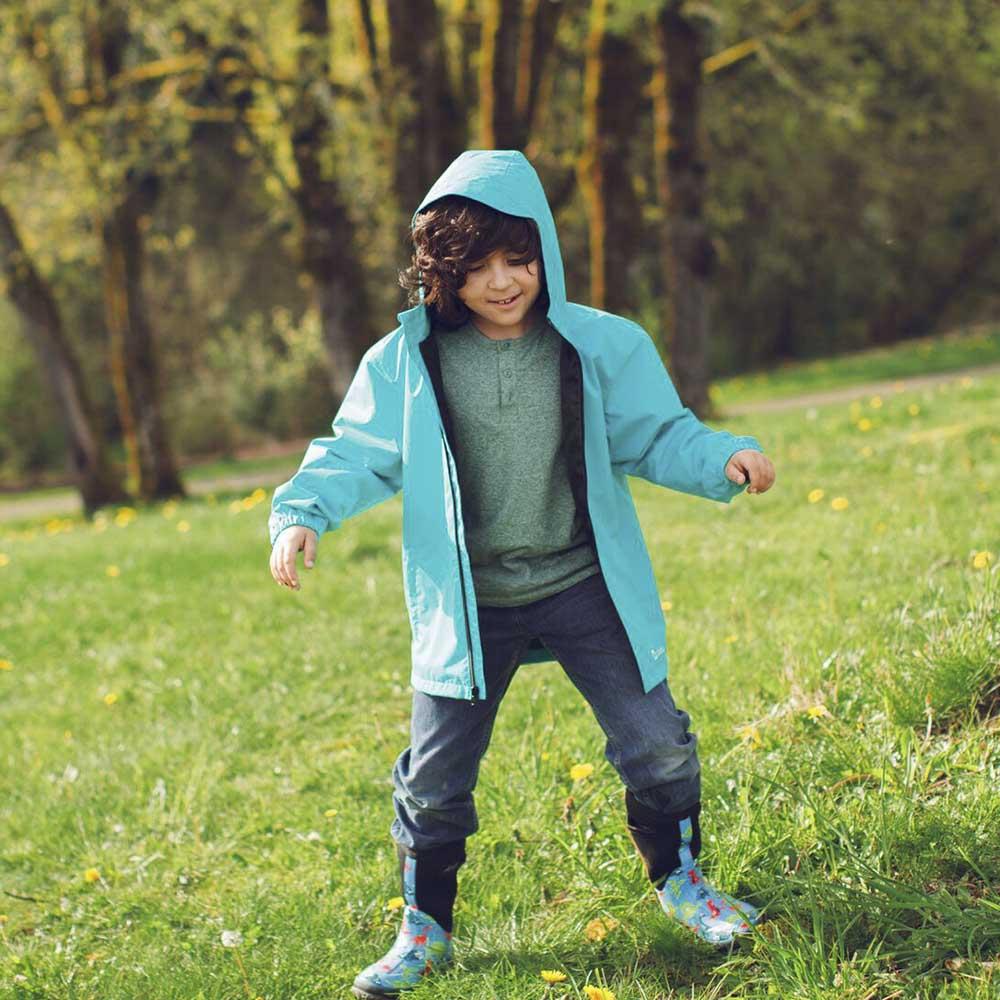 OAKI|兒童輕量防水外套  冰河藍