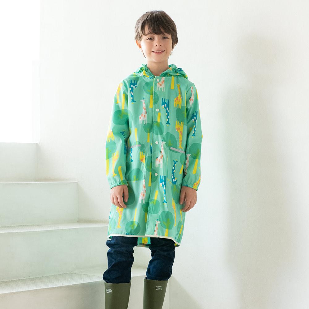 WPC|空氣感兒童雨衣 草原長頸鹿(120-140cm)