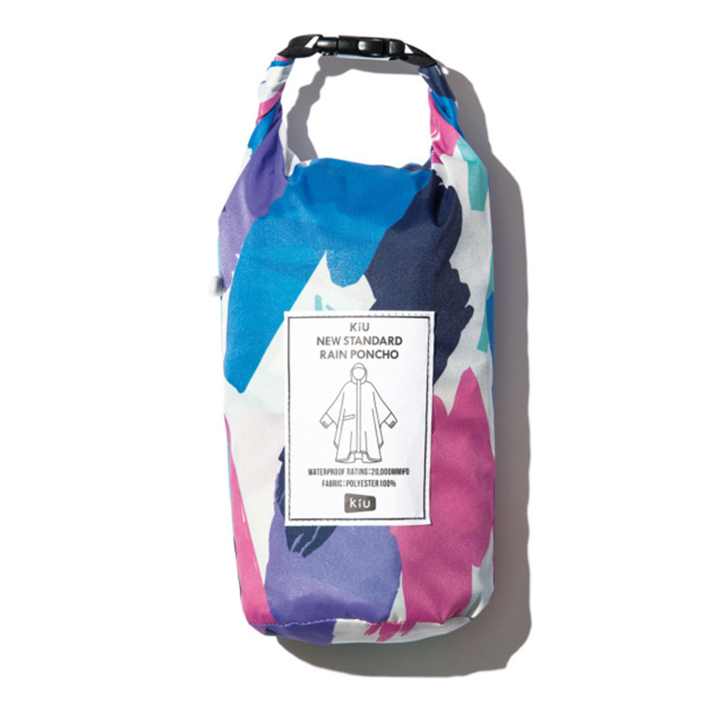 KiU|塗鴉 標準成人空氣感有袖斗篷雨衣(男女適用)