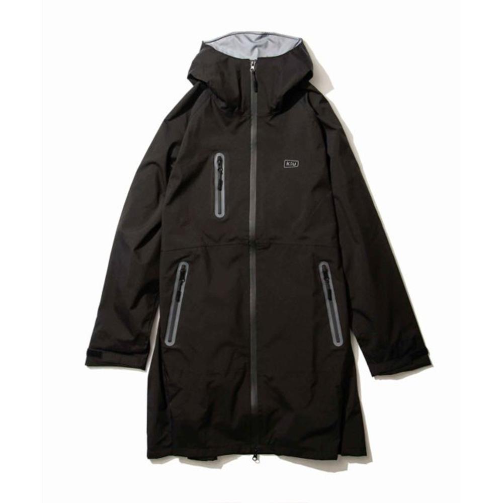 KiU|黑色 多功能防雨外套- 附收納袋(男女適用)L