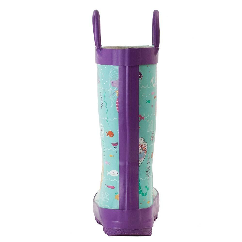 OAKI|兒童提把雨鞋 小美人魚