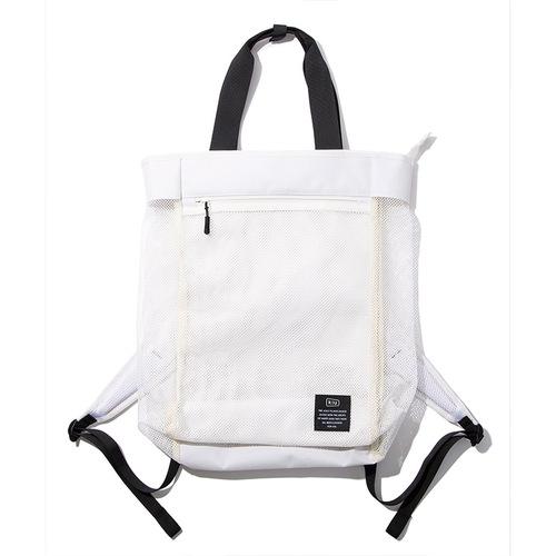 KiU 白色 側背後背2用大容量托特包
