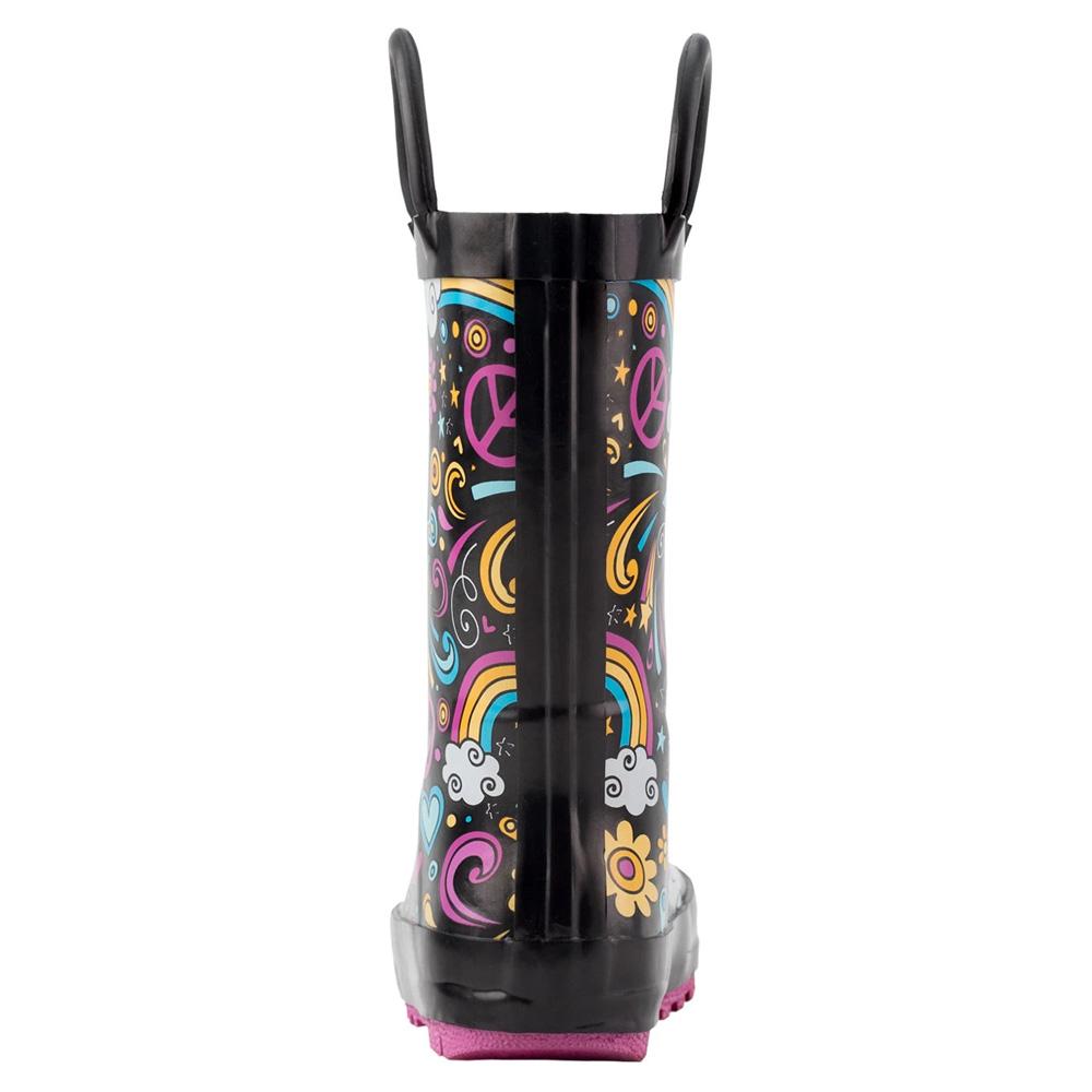 OAKI|兒童提把雨鞋 愛&和平&彩虹
