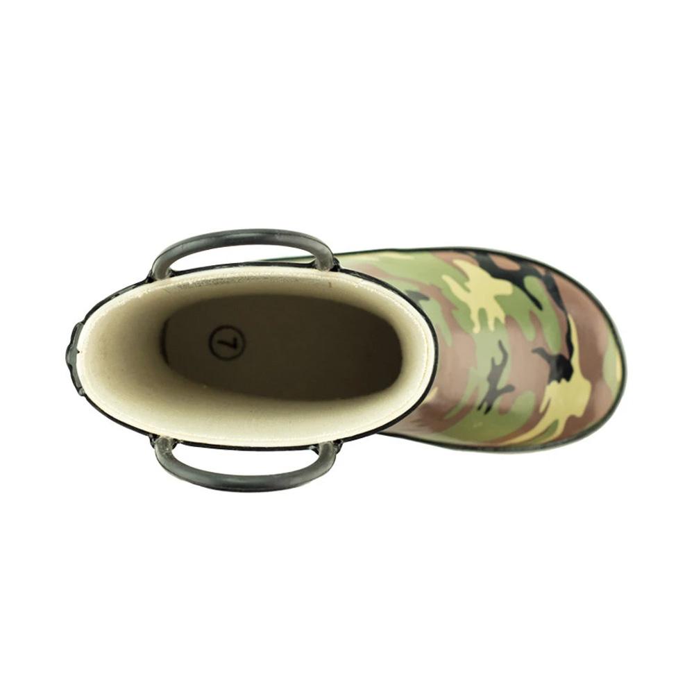 OAKI|兒童提把雨鞋  綠迷彩