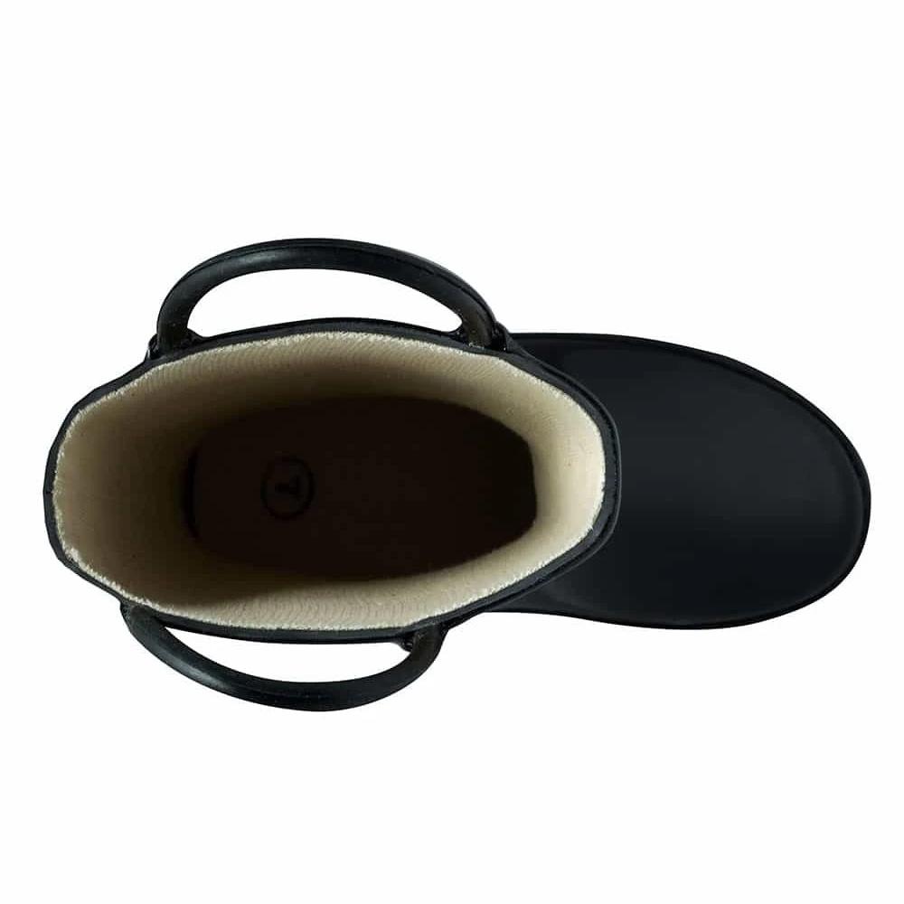 OAKI|兒童提把雨鞋 噴射黑